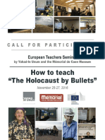 Teaching Holocaust by Bullets