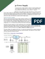 Regulated Power Supply-Block Diagram,Circuit Diagram,Working | Power