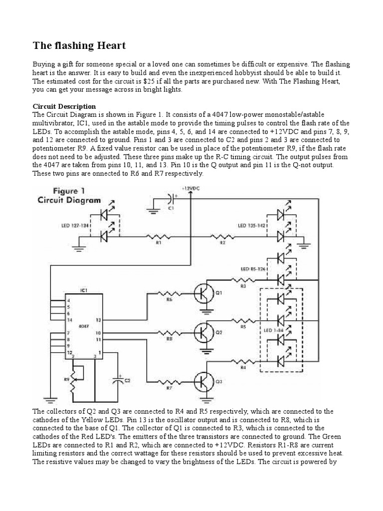 the flashing heart docx electronic design technology led flasher circuit led blinking sequence using pic