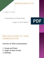 2015, Aug 10 WEEK 7-LA 204 - Meetings