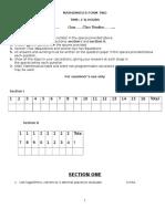 Maths Form 2 Examq