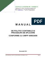 Xii.g Proceduri - Manual Politici Contabile 2012 Var 22.05.2012