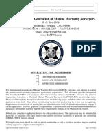 IAMWS Membership Application