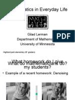 Mathematics in Everyday Life