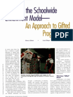 revisiting the schoolwide enrichment model--an approach to gifted programming