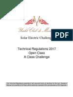 Solar Electric Challenge - Technical Regulations 2017