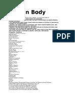 ljudsko telo organizacija