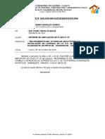 Informe Informe de Ampliación de Plazo TOCTO