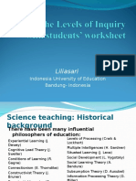Levels of Inquiry With Students' Worksheet