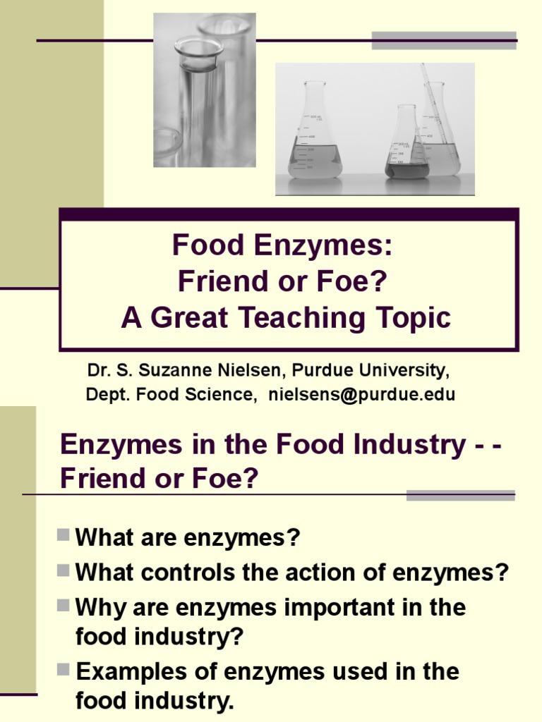 food enzyme   enzyme   acid