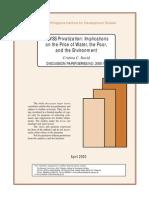 MWSS Privatization and Its Implications