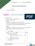 Ch3 Les Structures de Contrôle Conditionnelles