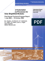 Development of Automated Production Line Processes for Solar Brightfield Modules
