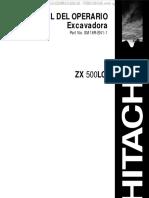 Manual de Operacion y Mantenimiento Excavadora Hitachi Zx 500 l
