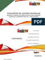 Evaluación Del Sistema Vestibular