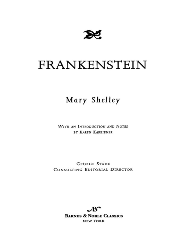 the importance of families in mary shelleys frankenstein Need help on characters in mary shelley's frankenstein check out our detailed character descriptions from the creators of sparknotes.