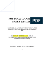 26. the Book of Job as a Greek Tragedy. Tnr 12