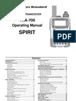 VXA 700 Owner Manual