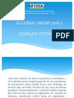 Algebra Linear 2016.2 - Espaços Vetoriais