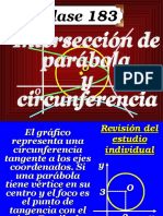 interseccion de parabolas