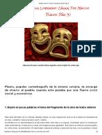 Análisis Literario_ Cásina, Tito Maccio Plauto. Pág