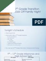 9th grade transition kick off family night pptx