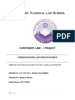 Corporate Law I Project
