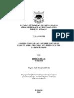 Analisa Pengembangan Karir Karyawan Pada PT. Adira Dinamika Multi Finance Tbk Cabang Padang