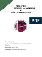 Procon Report - Trasnport