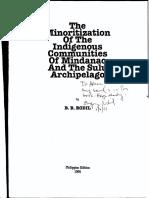 121775772 Rodil 1994 Minoritization of Indigenous Communities MindanaoSulu PDF