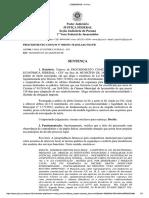 Sentença - Caixa Econômica Federal  - Instalação dispositivos de Segurança - Leis Municipais