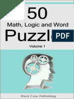 50 Math Logic And Word Puzzles.epub