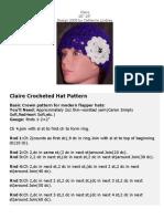 Crochet - Clair Hat