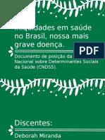 Iniquidades Em Saúde No Brasil