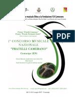 Bando Concorso Musicale F.lli Camerano