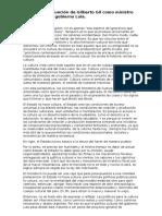 Discurso de Asunción de Gilberto Gil Como Ministro de Cultura Del Gobierno Lula