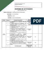 Cronograma IO MSc Ing José Rivero