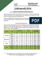 JEE Advanced 2016 Analysis by Resonance Eduventures Final