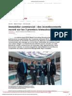 LSA - CARREFOUR - Immobilier Commercial _ Des Investissements.