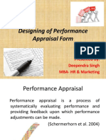 Ppt on Designing of Performance Appraisal Form by Deependra Singh