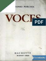 Voces - Antonio Porchia