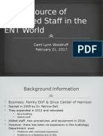 the resource of retrained staff in the ent revised