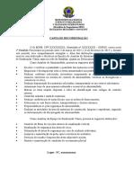 Carta de Recomendação Modelo