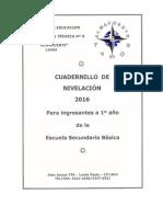 Cuadernillo Para 1º Año 2016