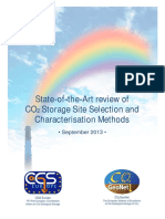 State of the art review of CO2 Storage Site Selection and Characterisation Methods
