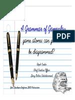 Grammar of Game Play