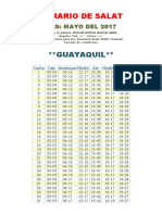 Horarios de Salats MAYO 2017 Ecuador