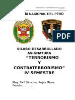 Silabo Terrorismo y Contraterrorismo - 1