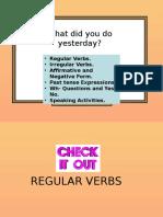 WDYDY Past Simple Grammar