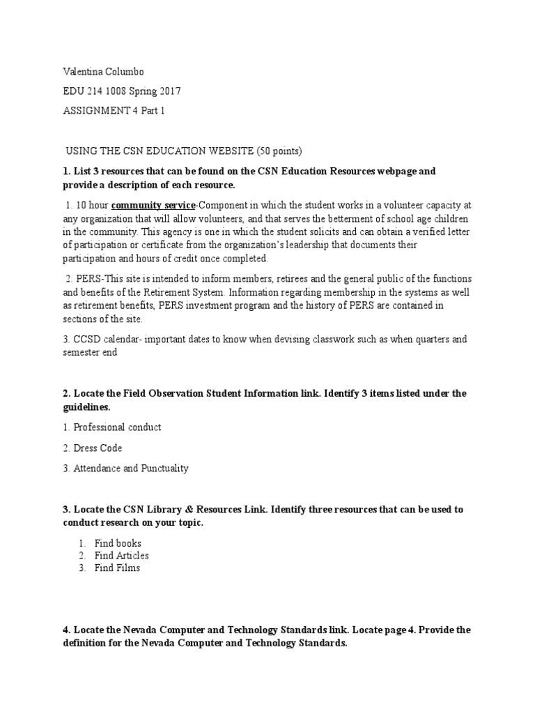 Assignment 4 Websites Teachers